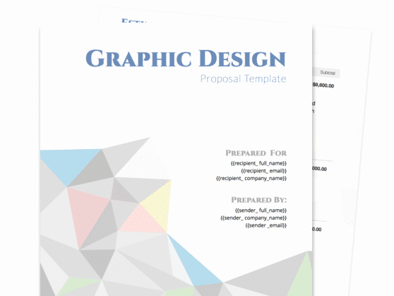 Graphic Design Proposal Template Unique Graphic Design Proposal Template