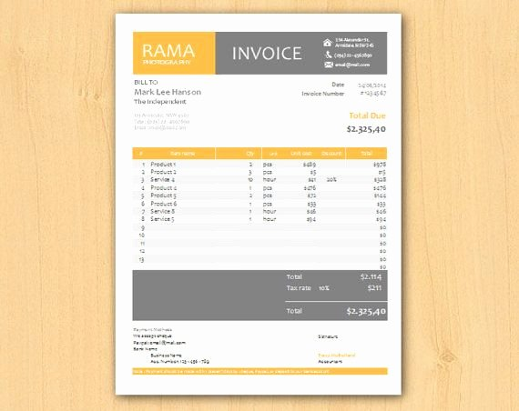 Graphic Design Quote Template Beautiful Editable Modern Professional Excel Business Invoice by