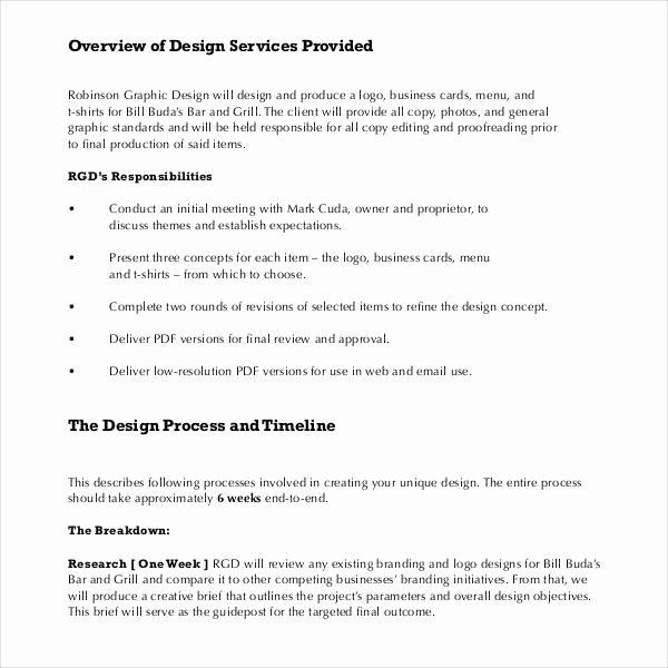 Graphic Design Quote Template Unique Sample Graphic Design Proposal Template 10 Free