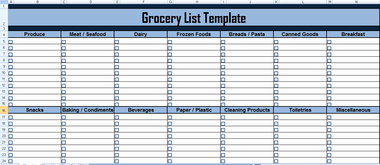 Grocery List Template Excel Awesome Project Management Expense Tracking Template
