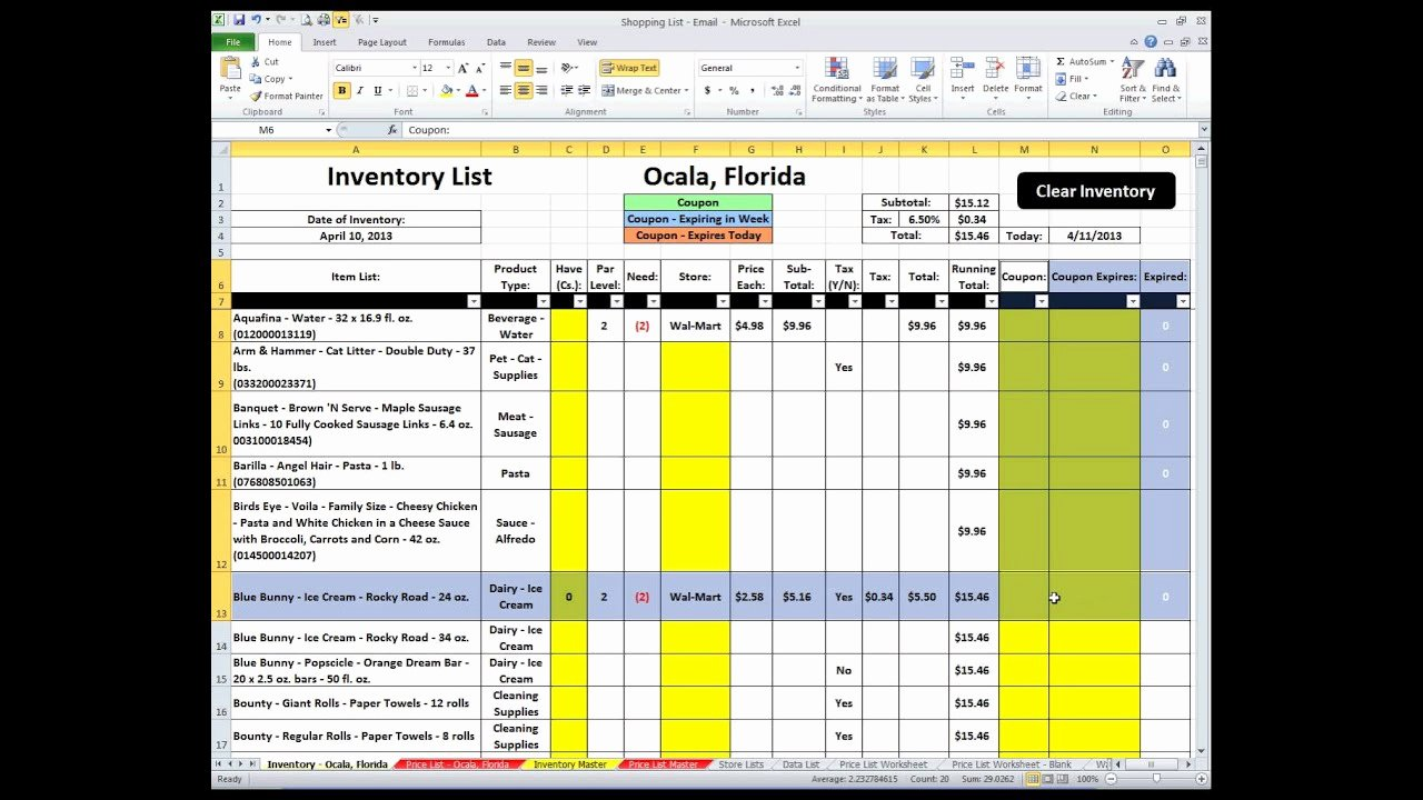 Grocery List Template Excel Awesome Shopping List Excel Spreadsheet