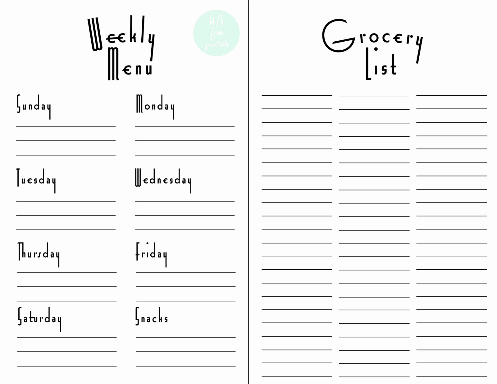 Grocery List Template Excel Elegant Shopping List Template