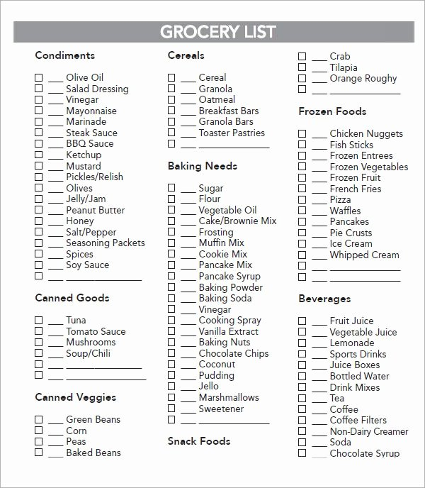 Grocery List Template Excel Lovely Best 25 Grocery List Templates Ideas On Pinterest