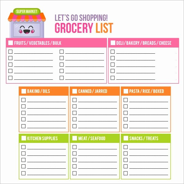 Grocery List Template Word Beautiful Free 7 Shopping List Samples Examples Templates