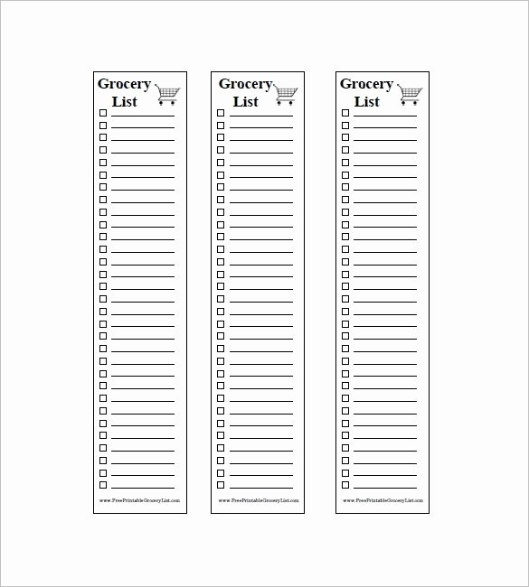 Grocery List Template Word Inspirational Blank Grocery List Pdf