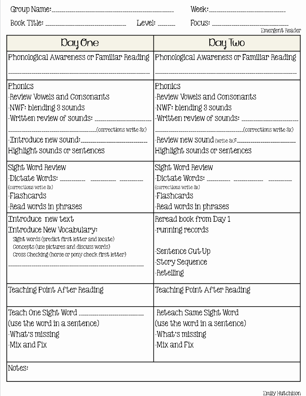 Guided Reading Lesson Plan Template Beautiful Curious Firsties Guided Reading format A Second Look