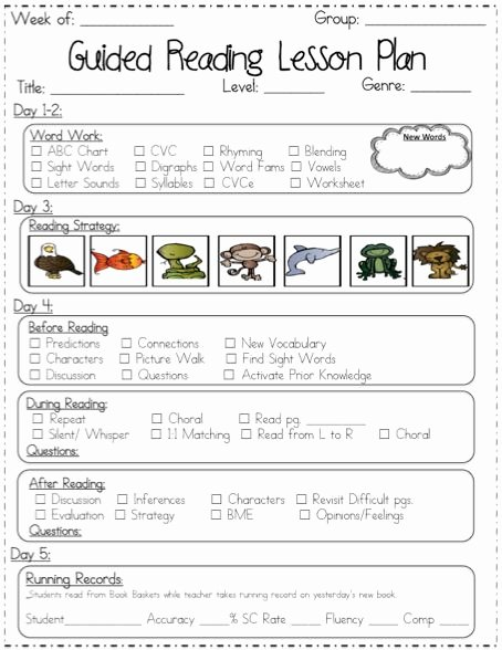 Guided Reading Lesson Plan Template Lovely 1000 Ideas About Lesson Plan Templates On Pinterest
