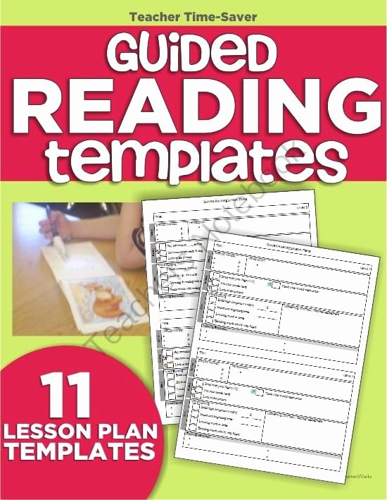 Guided Reading Lesson Plan Template Luxury Guided Reading Lesson Plan Template Bundle for Any