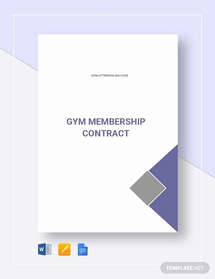 Gym Membership Contract Template Best Of 11 Gym Membership Contract Examples Word Docs Pages