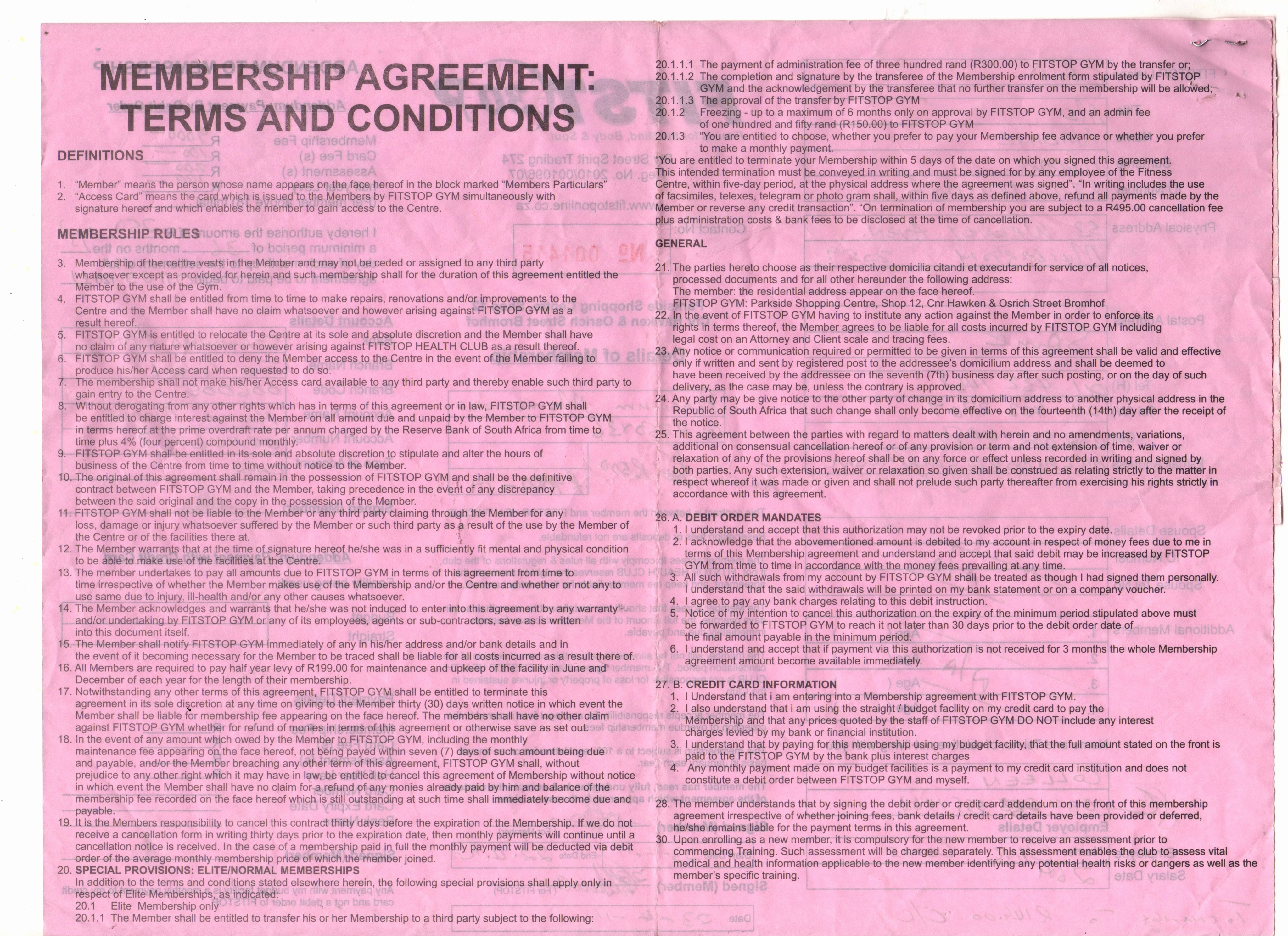 Gym Membership Contract Template Fresh How to Cancel Your Gym Membership Lawyer Talks About