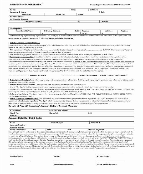 Gym Membership Contract Template Inspirational 9 Gym Membership Contract Templates Pages Docs Word