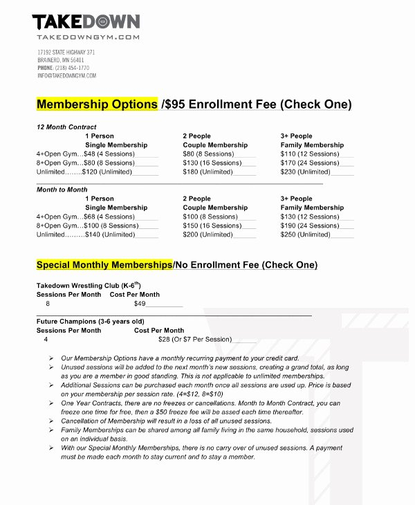 Gym Membership Contract Template New 11 Gym Membership Contract Examples Word Docs Pages
