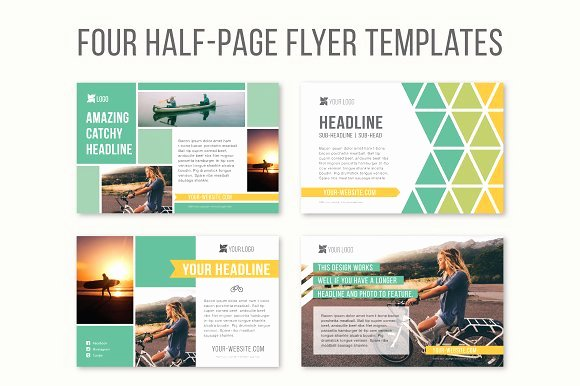 Half Page Flyer Template Lovely Four Half Page Flyer Templates Templates On Creative Market