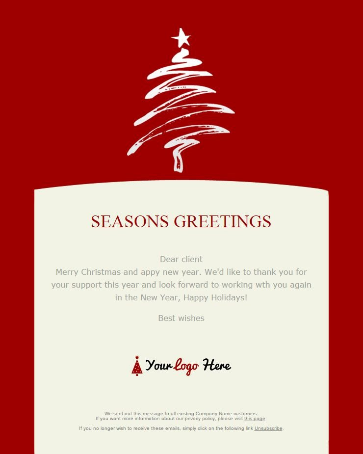 Happy New Year Email Template Awesome Christmas Email Template Google Search