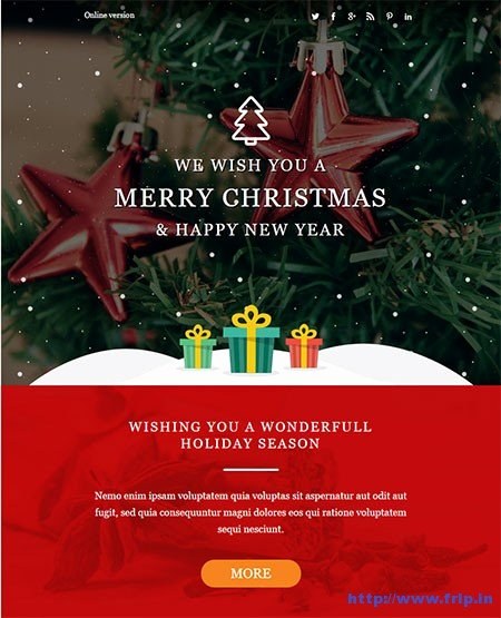 Happy New Year Email Template Beautiful 20 Best Christmas & New Year Email Templates 2017