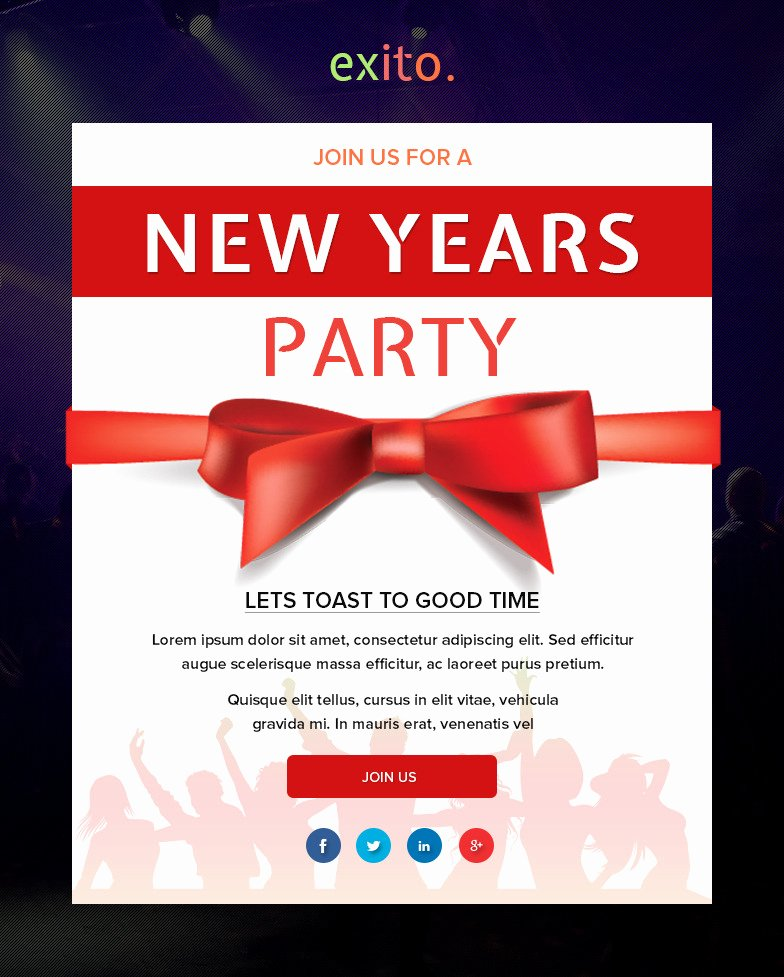 Happy New Year Email Template Beautiful Exito Notification Bundle Email with Builder by Digith