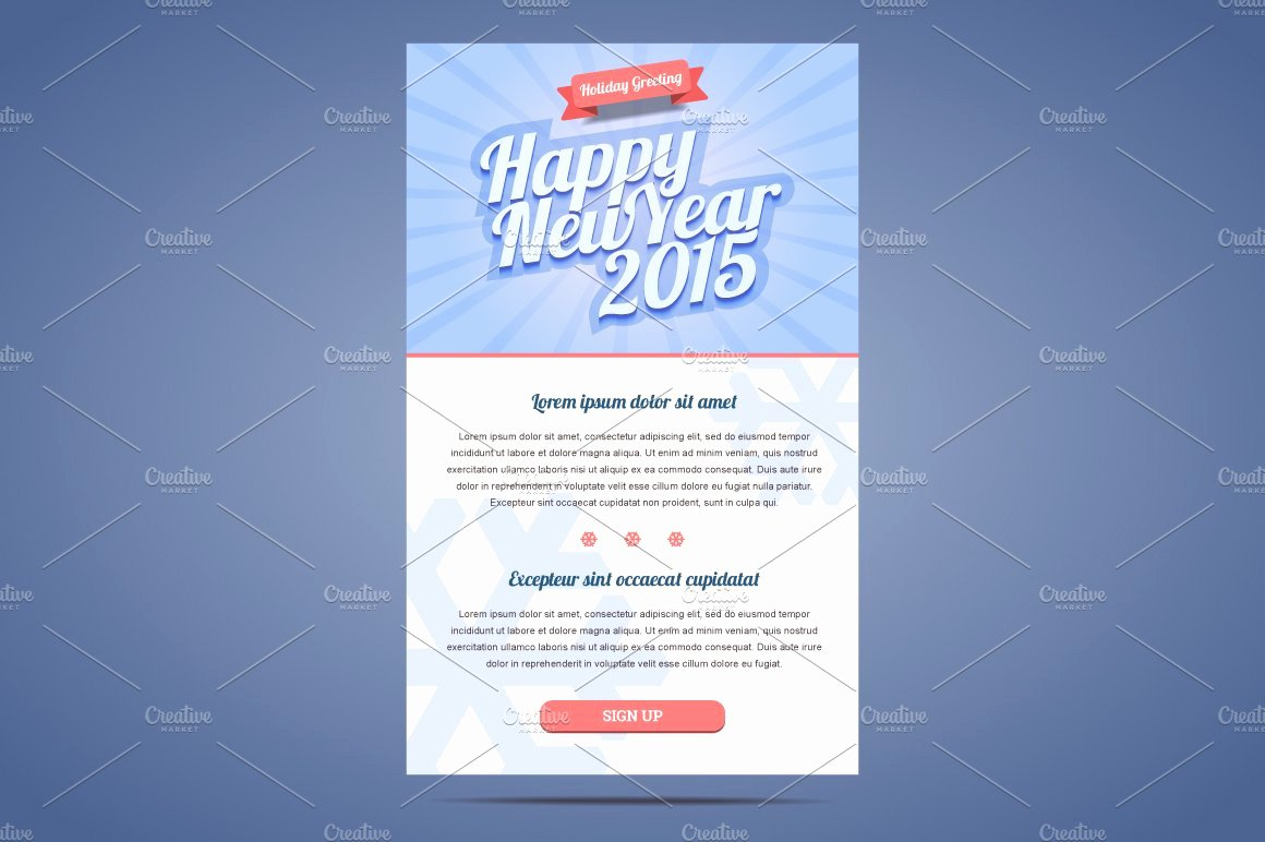 Happy New Year Email Template Beautiful Happy New Year Email Template Illustrations Creative
