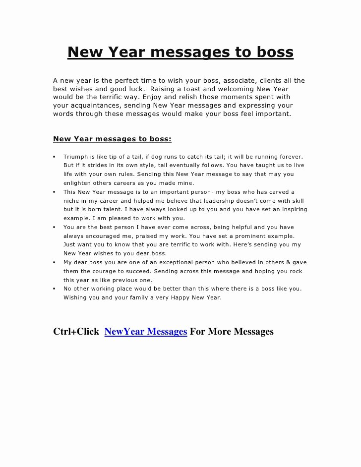 Happy New Year Email Template Beautiful New Year Messages to Boss