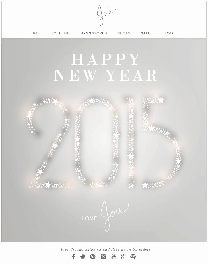 Happy New Year Email Template Fresh Best 25 Holiday Emails Ideas On Pinterest
