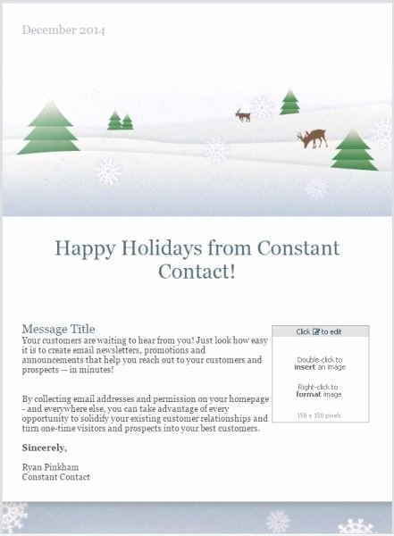Happy New Year Email Template Inspirational 10 Holiday Email Templates for Small Businesses