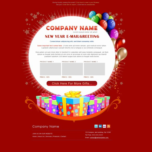 Happy New Year Email Template Inspirational 11 Birthday Email Templates Free Sample Example
