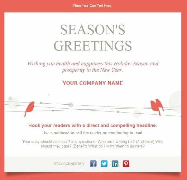 Happy New Year Email Template Inspirational 7 Email Templates to Drive Results This Holiday Season