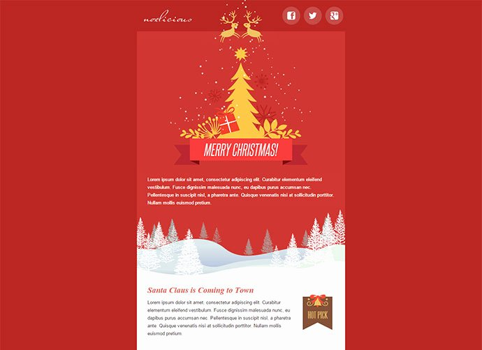 Happy New Year Email Template Lovely 20 Wonderful Christmas & New Year Email Templates – Bashooka