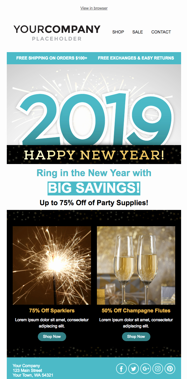 Happy New Year Email Template Luxury Don T Miss Out On the New Holiday Email Templates
