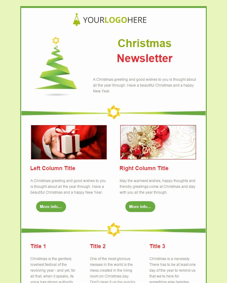 Happy New Year Email Template New 104 20 Free Christmas and New Year Email Templates