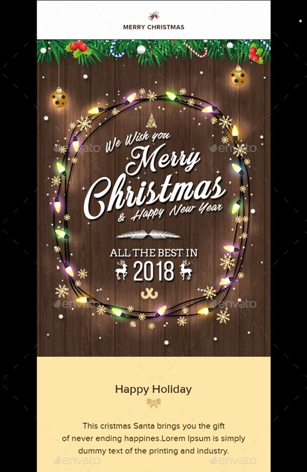 Happy New Year Email Template New Christmas Email Templates for the Up Ing Holiday Mailing