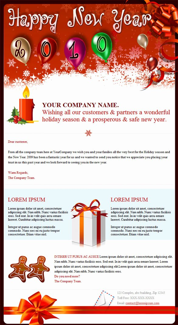 Happy New Year Email Template Unique 14 New Year Email Templates – Free Psd PHP HTML Css