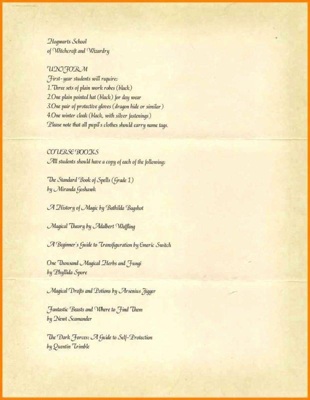 Harry Potter Acceptance Letter Template Beautiful Harry Potter Acceptance Letter Template