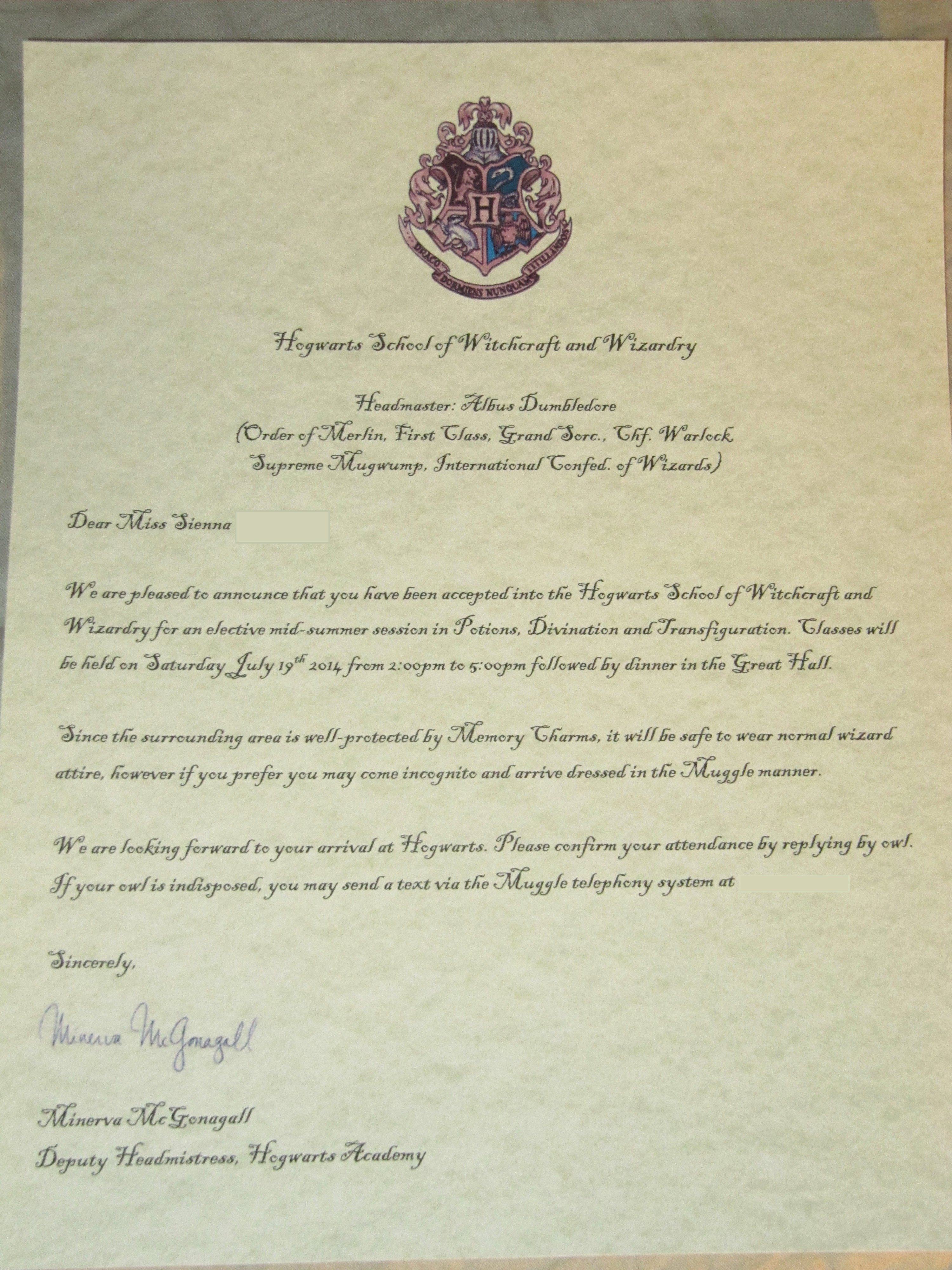 Harry Potter Acceptance Letter Template Beautiful Harry Potter Party Planning – Part 1 Invitations