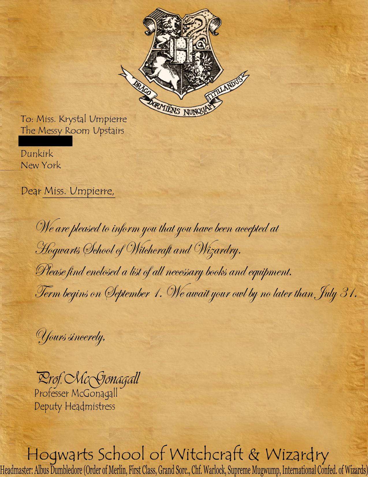 Harry Potter Acceptance Letter Template Beautiful Hogwarts Acceptance Letter Template