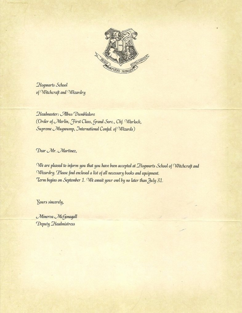 Harry Potter Acceptance Letter Template Best Of Hogwarts Acceptance Letter Template