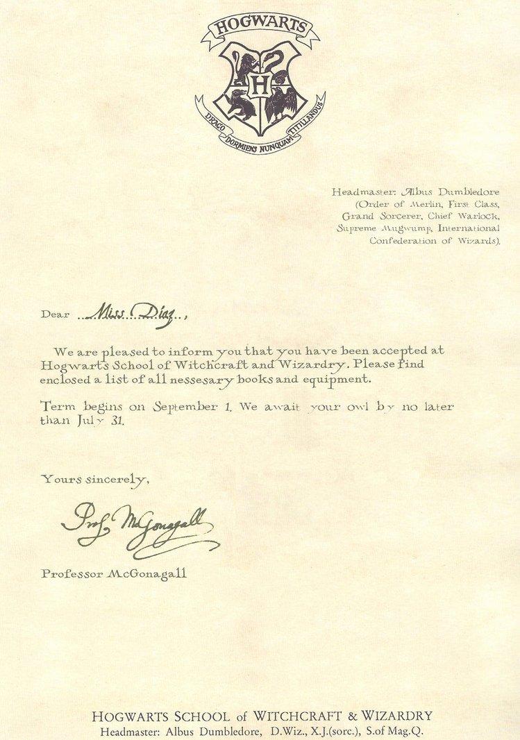Harry Potter Acceptance Letter Template Elegant Hogwarts Acceptance Letter Template