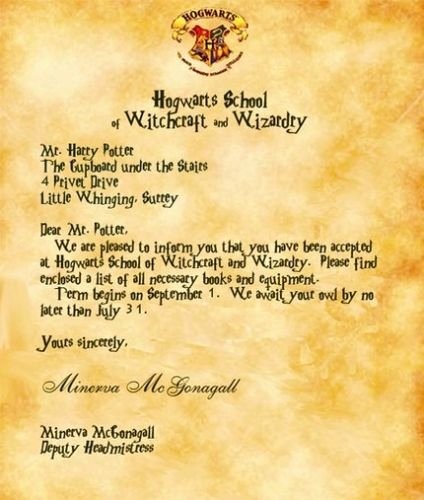 Harry Potter Acceptance Letter Template Inspirational A Look Into the Mind Of Tam Tam More Harry Potter