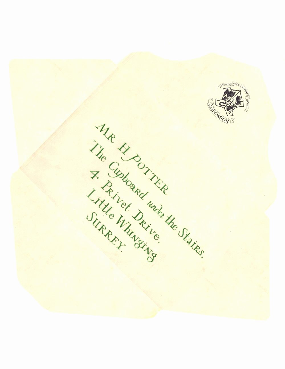 Harry Potter Acceptance Letter Template Luxury Harry Potter Envelope Template