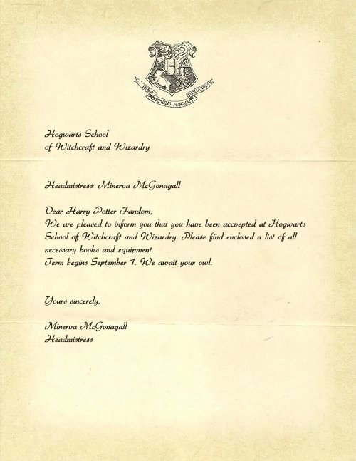 Harry Potter Acceptance Letter Template Luxury Printable Hogwarts Acceptance Letter