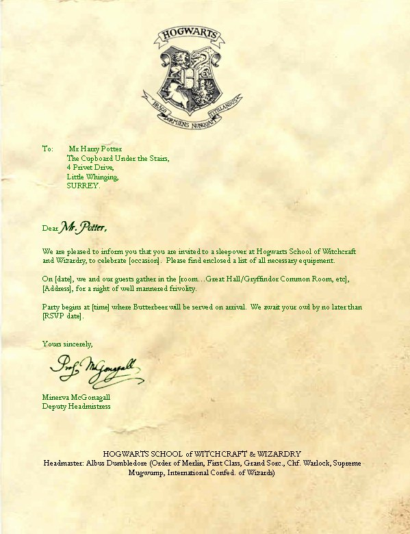 Harry Potter Acceptance Letter Template New Hogwarts Acceptance Letter Template