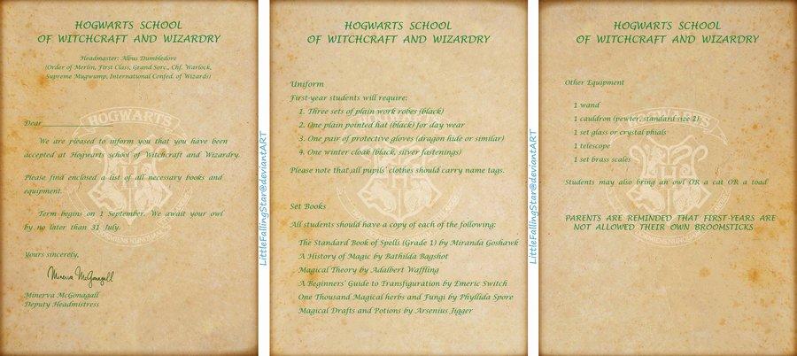 Harry Potter Acceptance Letter Template Unique Harry Potter Acceptance Letter Template