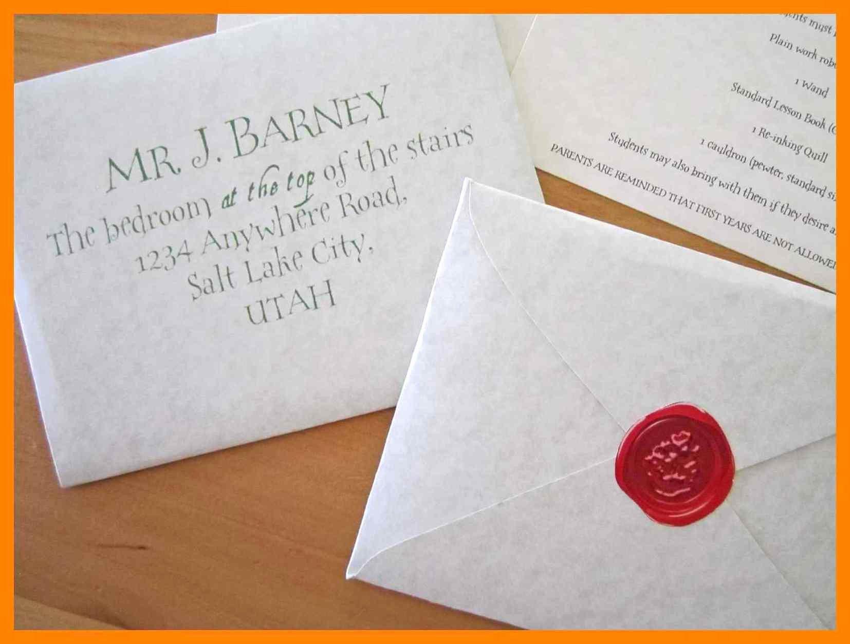 Harry Potter Acceptance Letter Template Unique Hogwarts Acceptance Letter Envelope Template Printable