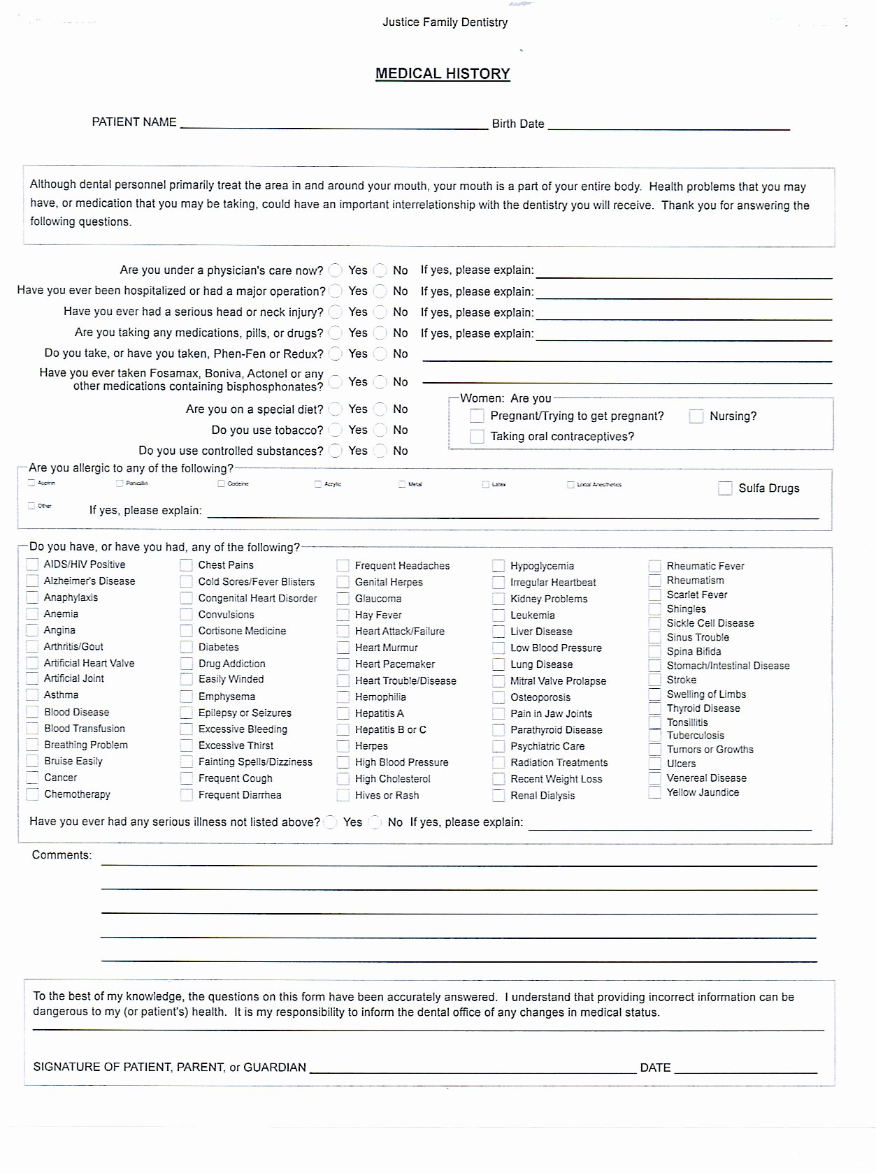 Health History form Template Best Of Medical History form Template – Medical form Templates