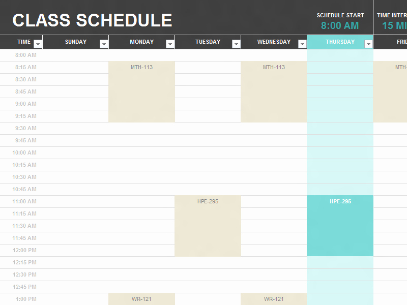 High School Schedule Template Awesome Usual American High School Timetable 2012 End Of Year