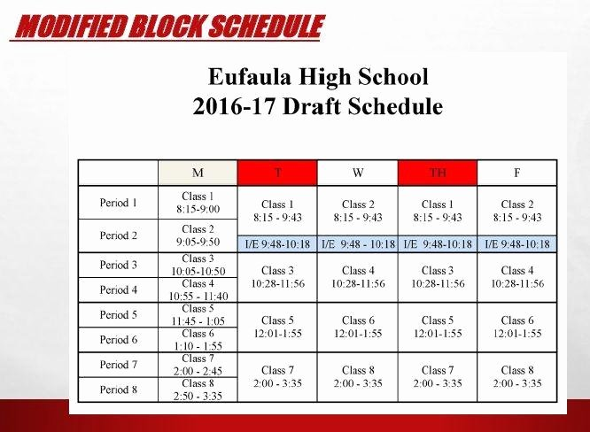 High School Schedule Template Best Of Eufaula High School Administrators Push for Modified Block