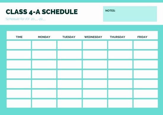 High School Schedule Template Inspirational Customize 82 Class Schedule Templates Online Canva