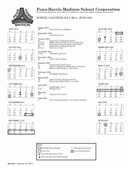 High School Schedule Template Inspirational East Penn School District Calendar