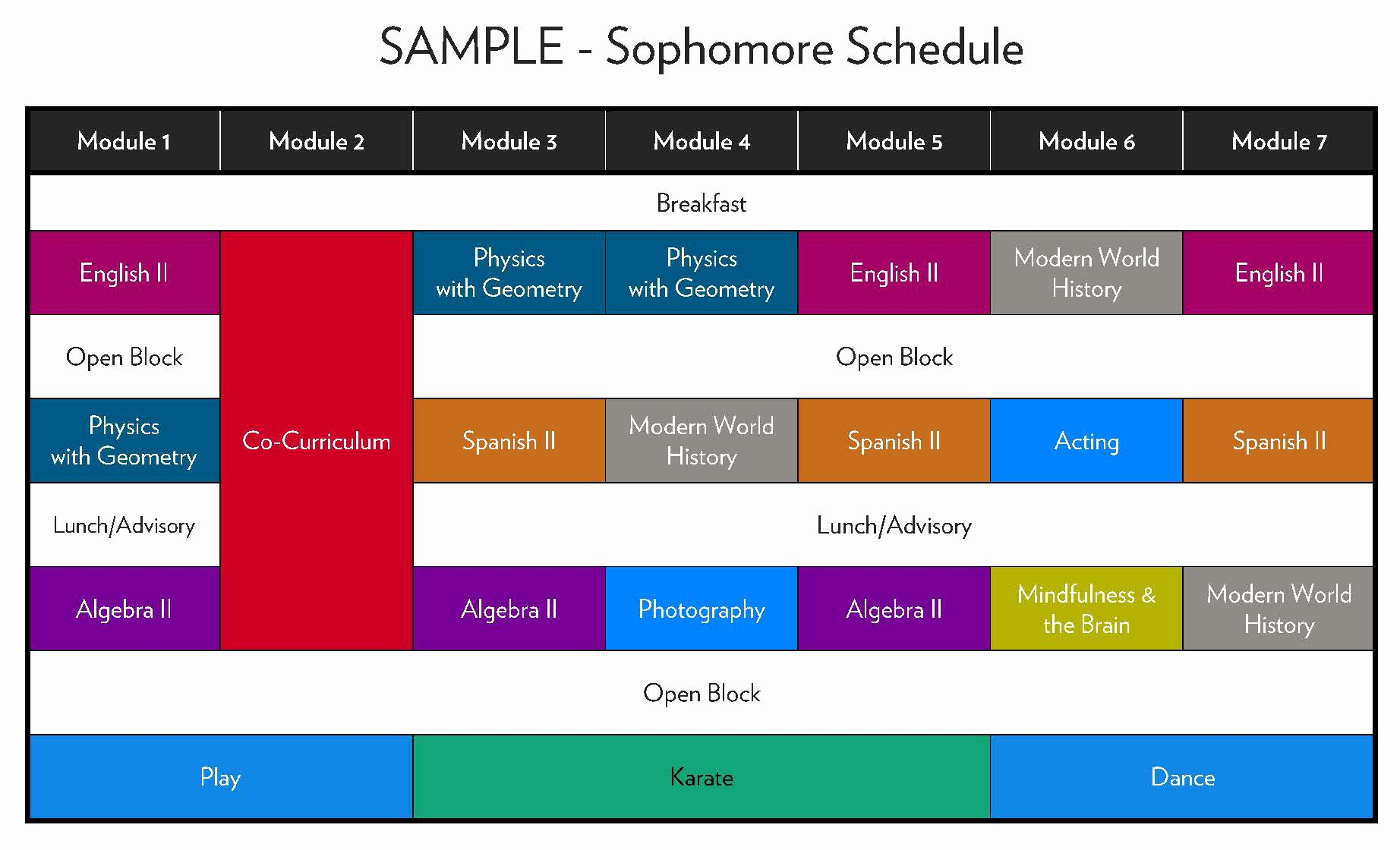 High School Schedule Template Lovely Modular Schedule
