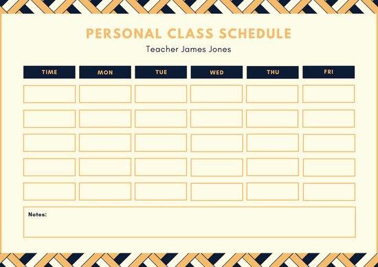 High School Schedule Template Unique Customize 82 Class Schedule Templates Online Canva