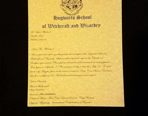 Hogwarts Acceptance Letter Template Awesome Make Your Own Hogwarts Acceptance Letter All